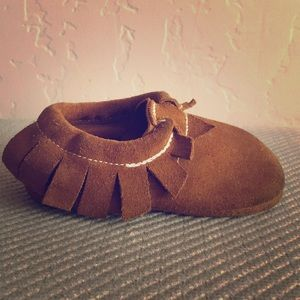 Other - Moccasins, Natural brown suede, toddler, size 7/8